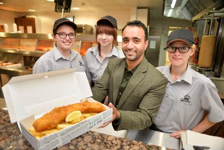 Takeaway fish And Chips Barnwood, Gloucester
