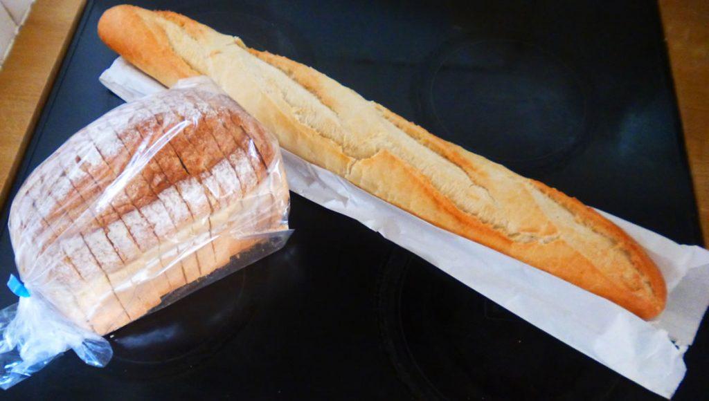 Fresh bakery bread